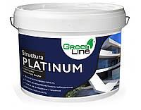 Декоративна структурна силіконова фарба ТМ Green Line STRUCTURA PLATINUM 10 л