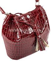Распродажа! Сумка женская натуральная кожа Karya 0789-08 бордовый Турция, фото 2