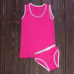 Розовый комплект детский для девочки: трусики и маечка Majestic Турция MJ2230