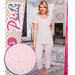 Комплект жіночий візерунковий (футболка та бриджі) Pink Secret Туреччина PK4184L-pink