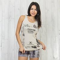 Элегантный комплект двойка женский: майка и шорты Sexen Турция 01062