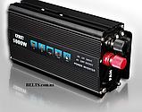 Инвертор 1000 Вт. стабилизатор напряжения UKC 1000W 12V-220V (black series), фото 2