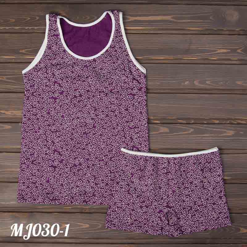 Детский фиолетовый комплект для девочки: майка и шорты MJ030-1