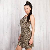 Ночная рубашка женская леопардовая Pink Secret (Турция) PK4416