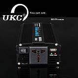 Инвертор 1000 Вт. стабилизатор напряжения UKC 1000W 12V-220V (black series), фото 4