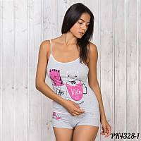 Комплект-двойка женский  майка и шорты Pink Secret Турция PK4328-1 L 08b752704ea61