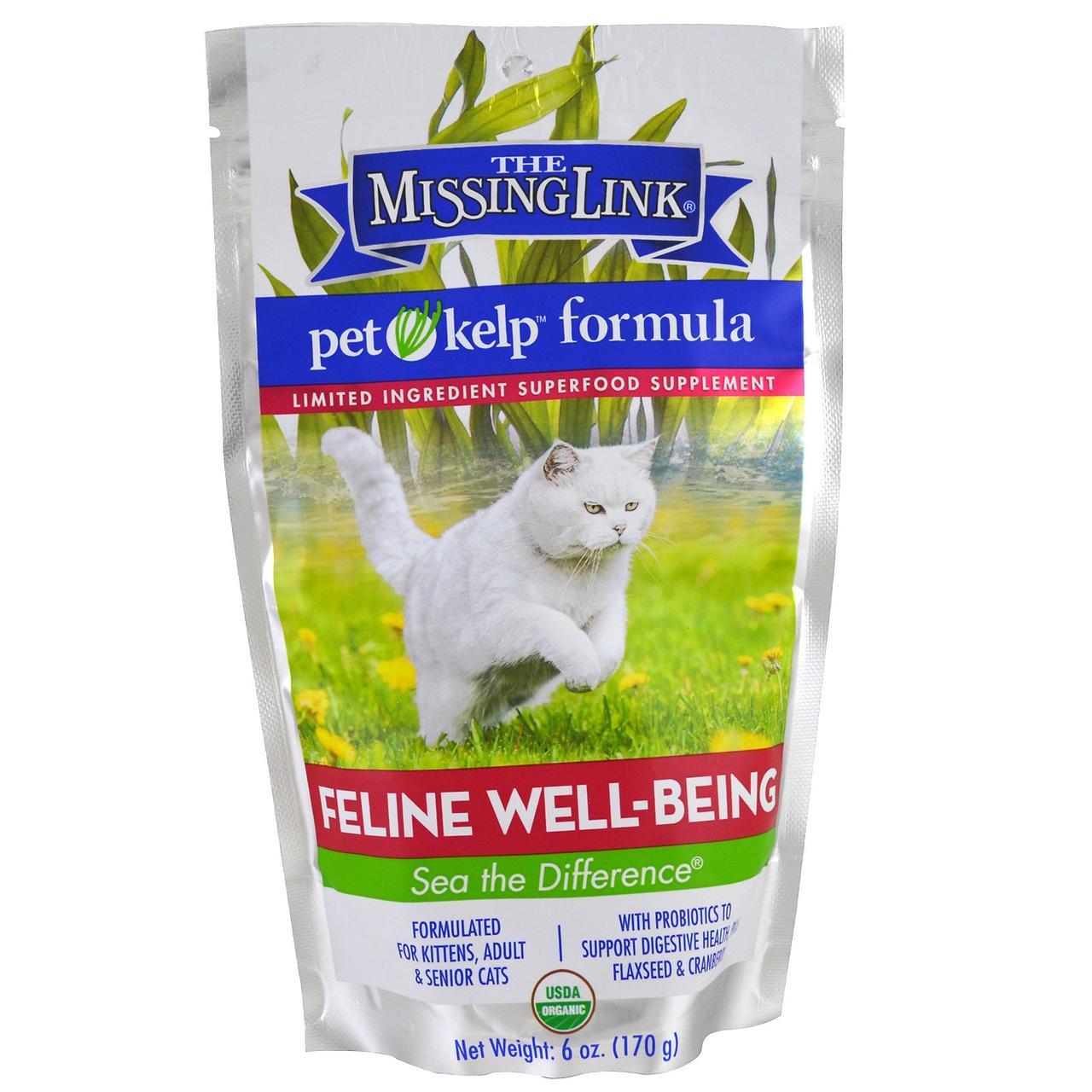 The Missing Link, Формула из бурых водорослей для домашних животных, здоровье, для кошек, 170 г (6 унций)