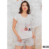Женский комплект для дома  футболка и шорты Pink Secret (Турция) PK4618 546ef87c6f9b4