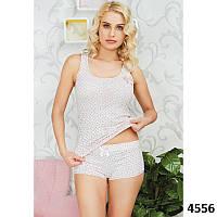 Домашний комплект-двойка женский: узорные майка и шорты Pink Secret  PK4556
