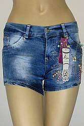 женские джинсовые шорты c бисером,камнями Ayaa