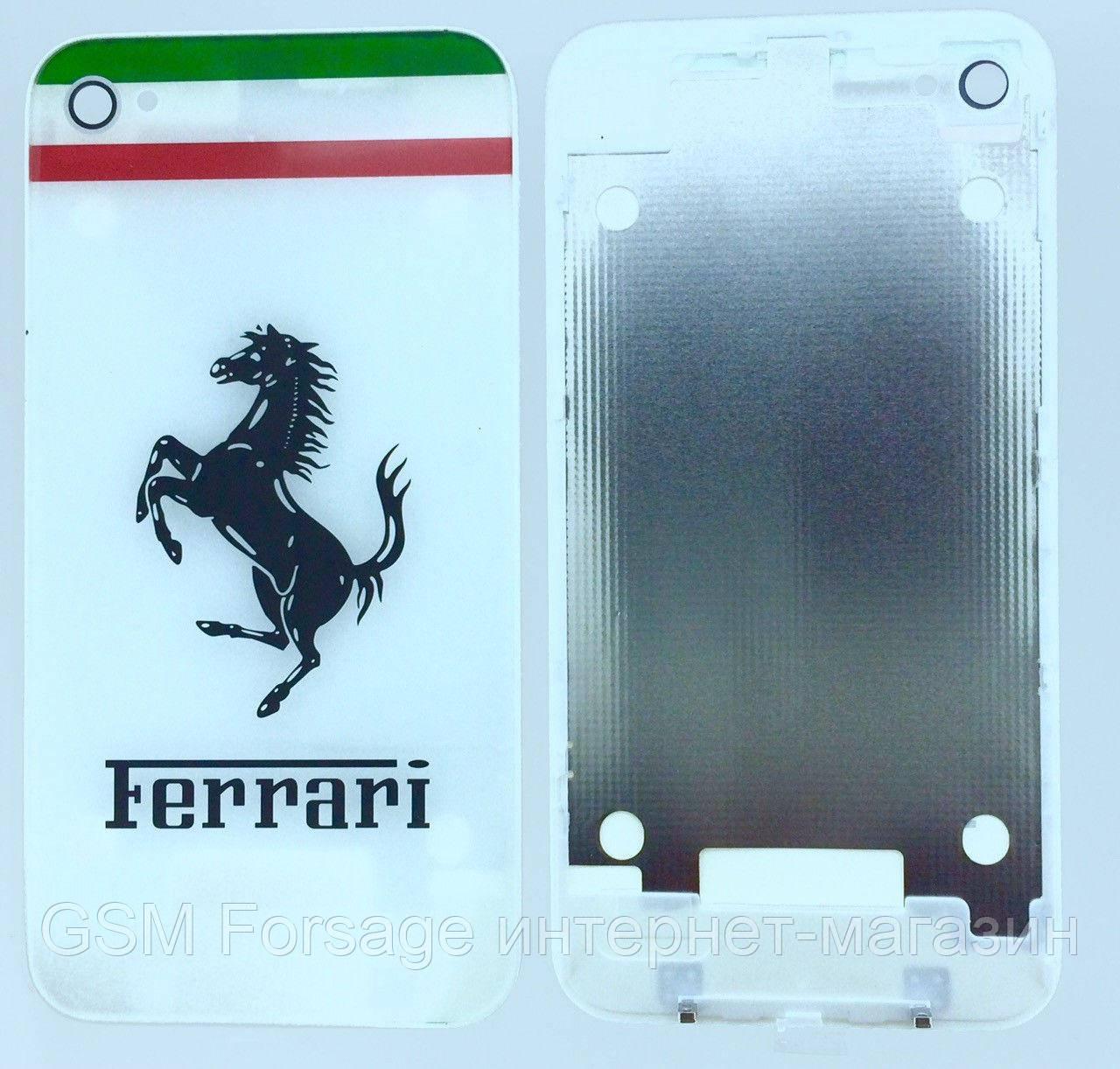 Крышка задняя iPhone 4 White Ferrari Original Quality