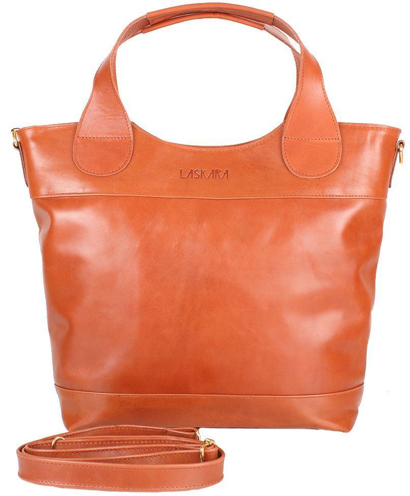 348d54bd7e67 Женская сумка LASKARA LK-DD218-cognac, цвет рыжий - SUPERSUMKA интернет  магазин в