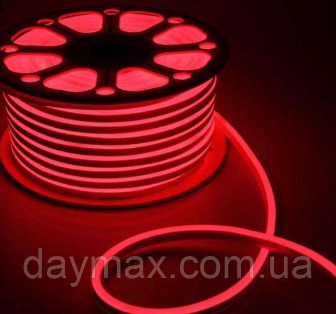 Светодиодный гибкий неон на 220v AVT красный(R) 120Led 2835 5mm IP65
