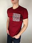 Мужская футболка Tommy Hilfiger качественная копия Бордовый, фото 2