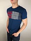 Мужская футболка Tommy Hilfiger качественная копия Темно-синий, фото 2