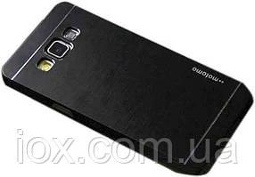 Металлический черный чехол Motomo для Samsung Galaxy A7 2015