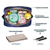Удобная сумка-органайзер для мам Mommore   синий, фото 8