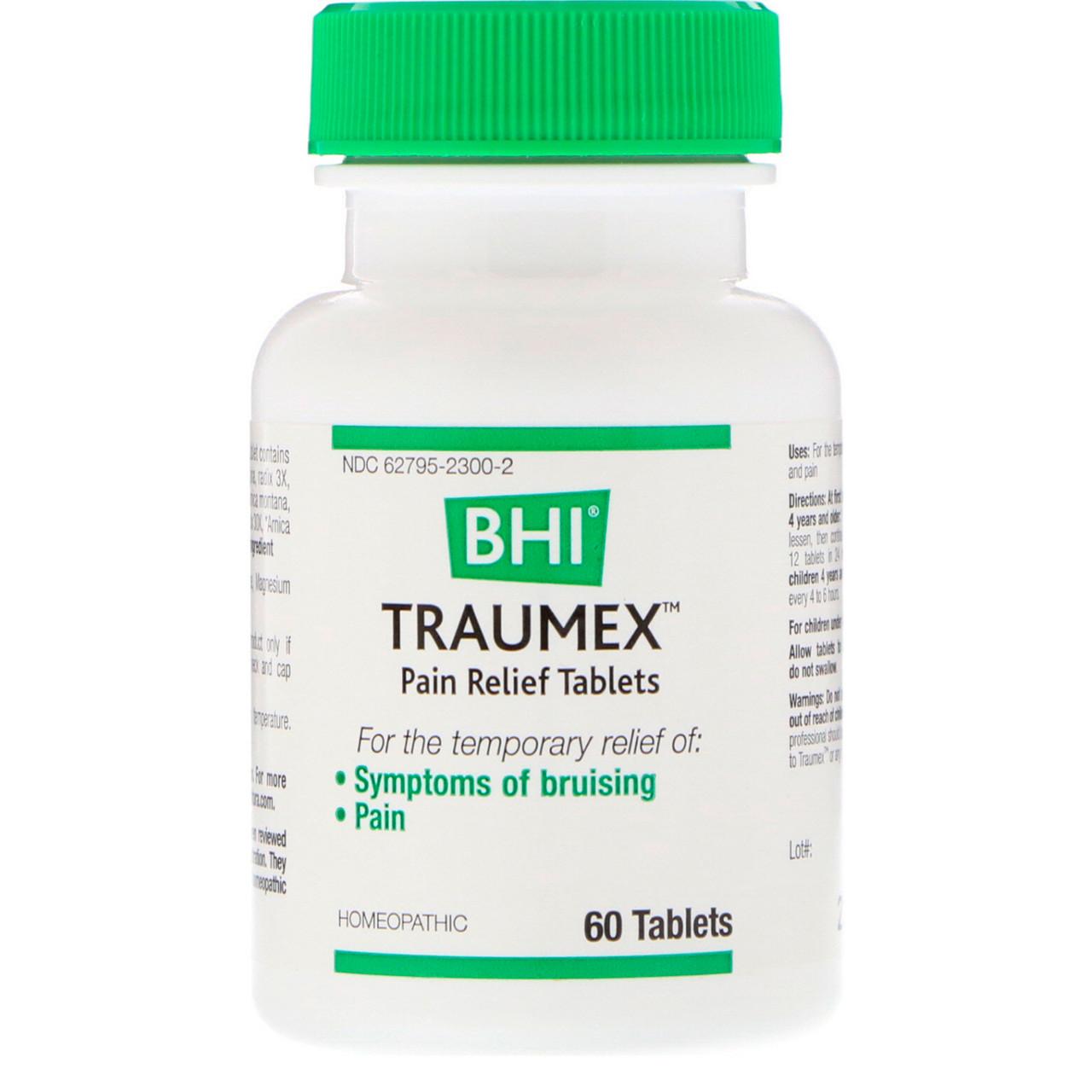 MediNatura, BHI, Traumex, Pain Relief Tablets, 60 Tablets