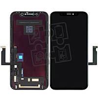 Дисплейный модуль (экран и сенсор) для iPhone XR, с рамкой, черный, оригинал