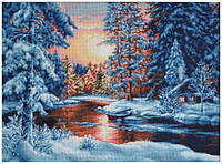 Набор для вышивания крестиком 51х36,5см. Зимний пейзаж. Luca-S