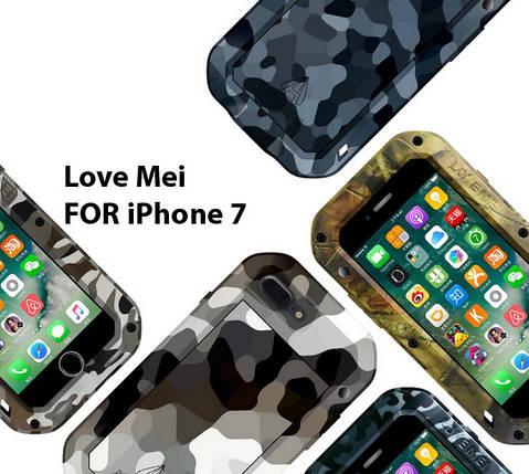 Чехол Love Mei PoverFul для iPhone 7 камуфляж, фото 2