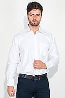 (Белый) (Размер 43) Рубашка мужская в светлом оттенке, тонкая полоска 50PD875-18