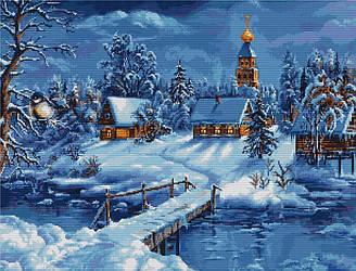 Набор для вышивания крестиком 45х34см. Зимний пейзаж. Luca-S