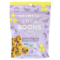 Sejoyia Foods, Coco-Roons, Chewy Cookie Bites, Chocolate Chip, 3 oz (85 g)