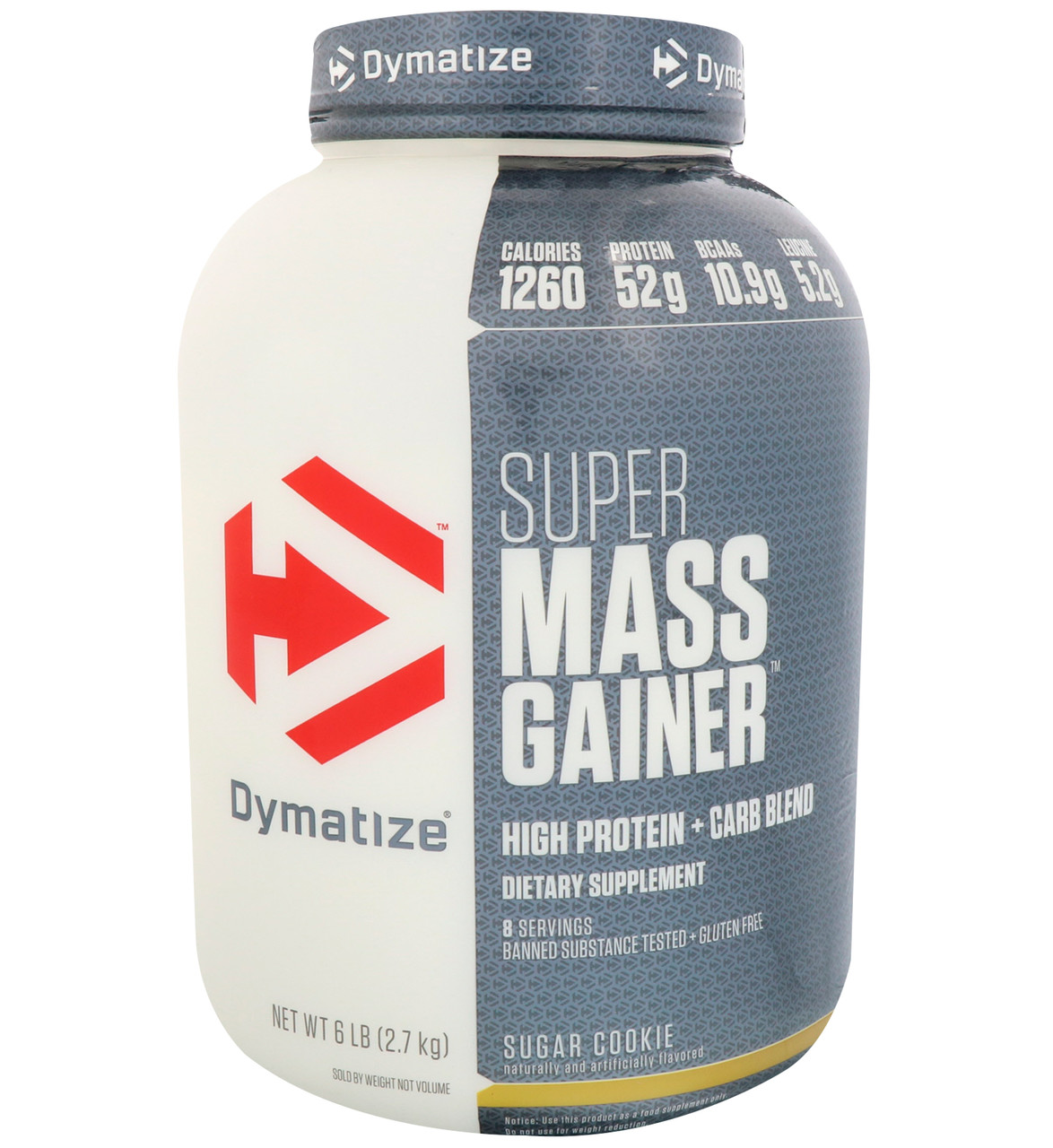 Dymatize Nutrition, Лучшее средства для наращивания массы, сахарное печенье, 6 фунтов (2,7 кг)