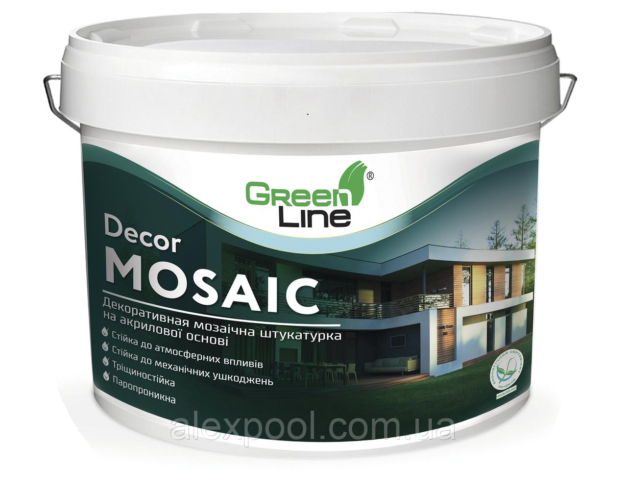 Декоративна мозаїчна штукатурка DECOR MOSAIC 10 л