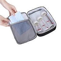 Большая сумка-рюкзак для прогулок и путешествий с младенцем  Mommore  черный для мам, фото 6