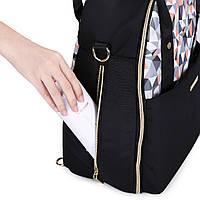 Большая сумка-рюкзак для прогулок и путешествий с младенцем  Mommore  черный для мам, фото 7