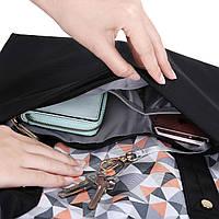 Большая сумка-рюкзак для прогулок и путешествий с младенцем  Mommore  черный для мам, фото 9