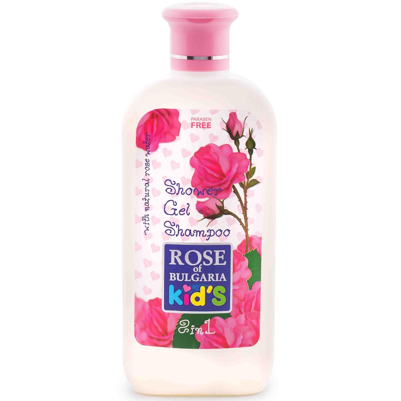 Шампунь-гель 2 в 1 для детей Rose of Bulgaria без парабенов, 200 мл