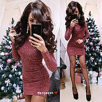 Платье из стрейч-гофре с паетками, размер 42-44, фото 2