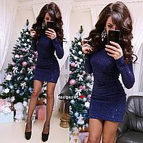 Платье из стрейч-гофре с паетками, размер 42-44, фото 3