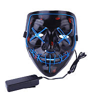 Аксесуар на вечірки SUNROZ Neon LED Mask світлодіодна маска Синій (SUN3168)