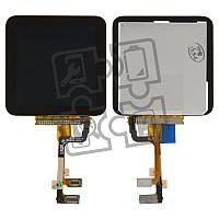 Дисплей для iPod Nano 6G, модуль в сборе (экран и сенсор), черный, оригинал