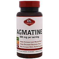 Olympian Labs Inc., Агматин, 500 мг , 60 растительных капсул