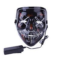 Аксесуар на вечірки SUNROZ Neon LED Mask світлодіодна маска Білий (SUN3169)