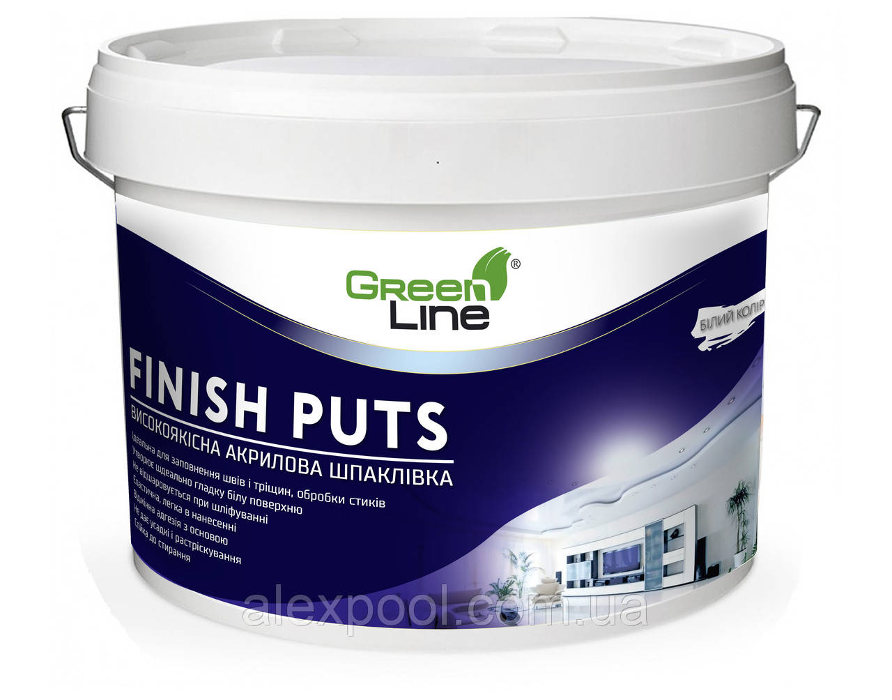 Фінішна акрилова шпаклівка TM Green Line FINISH PUTS 1 л
