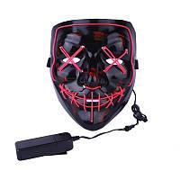 Аксесуар на вечірки SUNROZ Neon LED Mask світлодіодна маска Рожевий (SUN3170)
