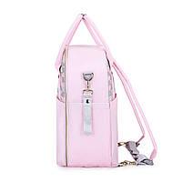Большая сумка-рюкзак для прогулок и путешествий с младенцем   розовая  Mommore для мам, фото 2