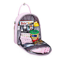 Большая сумка-рюкзак для прогулок и путешествий с младенцем   розовая  Mommore для мам, фото 5