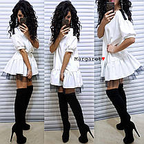 Нарядное платьице свободного кроя, размер единый 42-44, фото 2