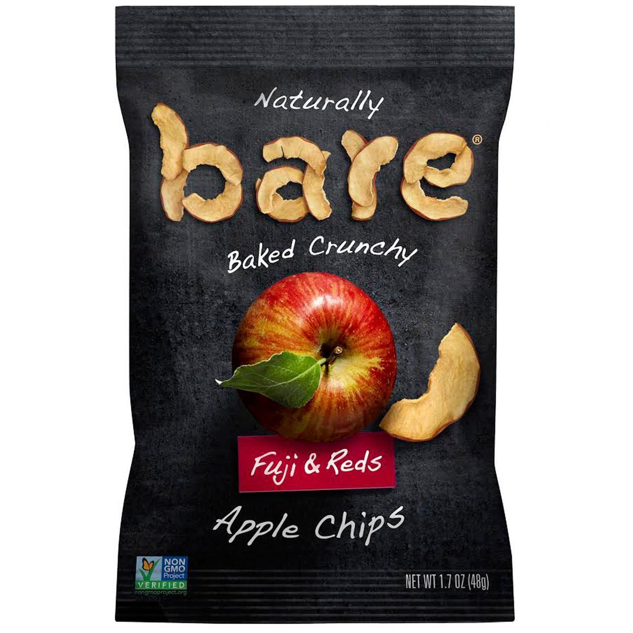 Bare Fruit, Naturally Baked Crunchy, Apple Chips, Fuji & Reds , 1.7 oz (48 g)