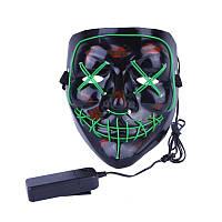 Аксесуар на вечірки SUNROZ Neon LED Mask світлодіодна маска Зелений (SUN3171)