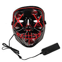 Аксесуар на вечірки SUNROZ Neon LED Mask світлодіодна маска Червоний (SUN3167)