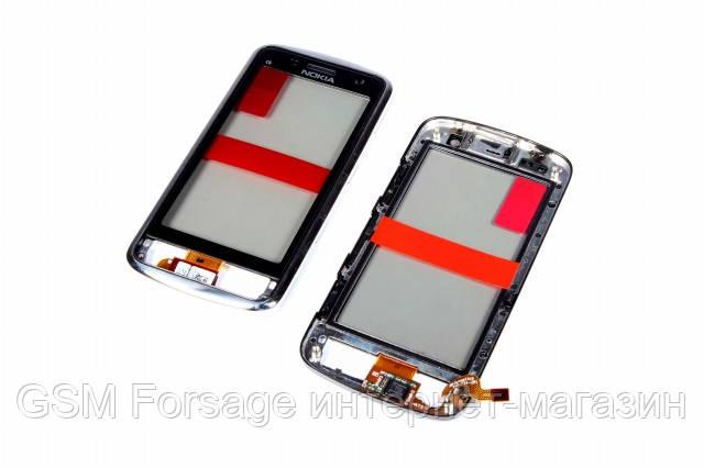 Тачскрин Nokia C6-01 Black Original ( с рамкой)