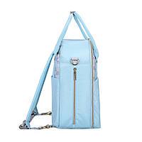 Большой-рюкзак для прогулок и путешествий с младенцем  голубая   Mommore, фото 3